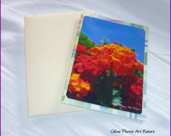 "Double 10 5x15cm made from a photo of sunny flowers ""Colors of the South"""