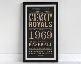 Kansas City Royals - Screen Printed Poster