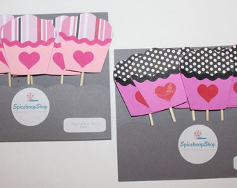 Cupcake toppers , cupcake , party decor , cake topper, valentines day
