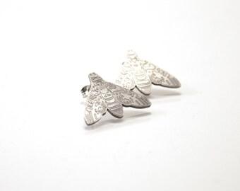 Kiitäjä - silver earrings