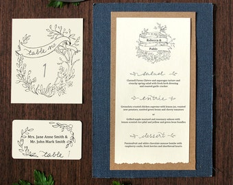 Garden Party Fillable Place Cards