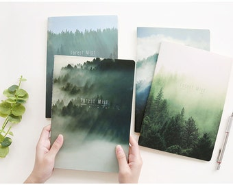 4 Pcs Mist Forest Traveler's Journal Notebook Journal Planner Journal Insert Planner Insert Hand Book