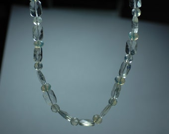 Chunky Faceted Pineapple Quartz Necklace