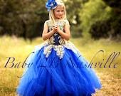 Royal Blue Dress Gold Dre...