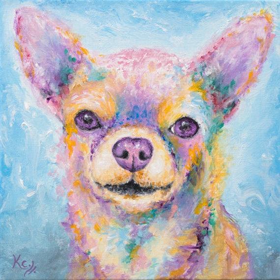 Chihuahua Art - Chihuahua Gift, Chihuahua Print, Chihuahua Wall Art, Dog Art, Chihuahua Dog Print, Pink Chihuahua Print, Dog Lover Gift.