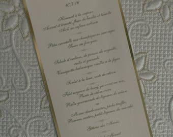 Gold Wedding Menu, Gold Foil Wedding Menu, Monogram Wedding Menu, Baroque Wedding Menu, Gold Menus, Foil Menus, Baroque Menus, Wedding Menus