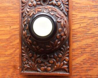 "New Victorian ""Flowering Crabapple"" Lighted Doorbell Button"