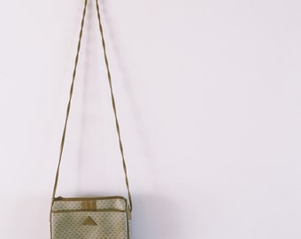 1980's Liz Claiborne leather trim crossbody purse