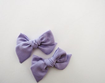 Handtied Pigtail Bows