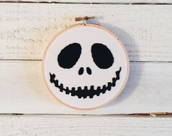 Jack Skellington Embroidery Hoop // This Is Halloween Embroidery // Nightmare Before Christmas Embroidery // Halloween Embroidery Design //