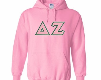 Delta Zeta Lettered Hooded Sweatshirt