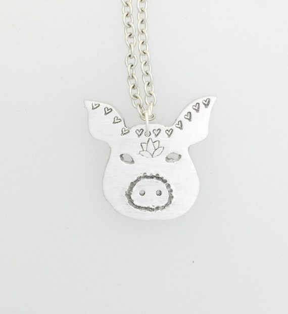 Good Karma Pig Necklace-Vegan Necklace-Vegan Jewelry-Vegan Gift-Pig necklace-Pig Jewelry-Animal Lover-Plant Based-Anniversary-Birthday