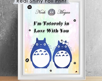 Totoro Couple Gifts, Totoro Wedding Gift, Totoro Anniversary Gift, Totoro Print, Totoro Gift, Studio Ghibli, Hayao Miyazaki, 8x10 Print