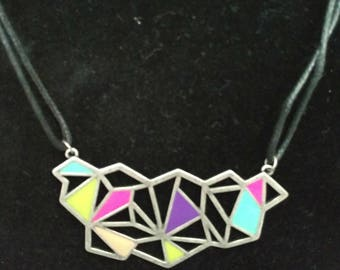 Colorful Abstract Pendant Necklace