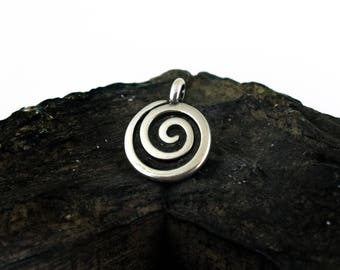 Spiral pendant etsy circle of life pendant 22x18mm spiral pendant charm swirl ethnic tribal charms antique silver finish metal casting 2 pieces aloadofball Images