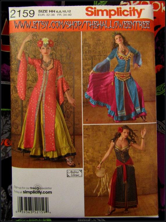 Simplicity 2159 Belly dancer Harem Jasmine Arabian Halloween costume ...