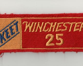 Vintage Embroidered Shooting Patch Winchester Skeet 25