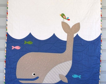 PDF W is for Whale Quilt Pattern in PDF for Digital Download