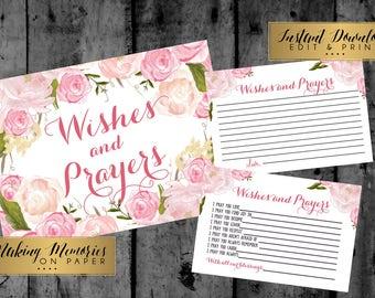 Wishes and prayers, Baptism Prayer, Baptism Sign, Baptism, Flower,floral,Christening, Dedication ,First Communion. Girl Baptism -pink floral