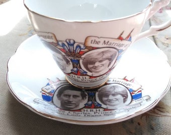 Prince Charles and Lady Diana Marriage cup and saucer