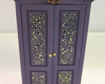 Dollhouse Miniature, Halloween, Furniture, OOAK, 1:12th Scale, Witch, Ghost, Room Box, Haunted House, Armoire