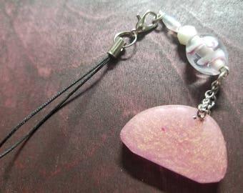 Bag Charm - Planner Charm - Cell Phone Charm - Resin Pendant - Beads - Glass Beads