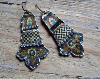 Recycled  tin earrings    *4