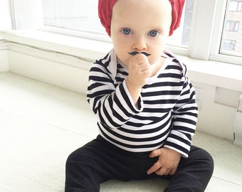 Baby Boy Halloween Costume | Boys Frenchman Outfit | Funny Toddler French Parisian Costume | 3 Piece or 4 Piece Halloween Set