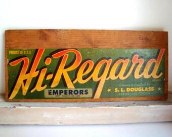 Advertising sign-- California produce