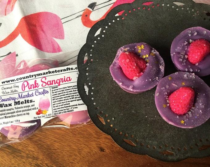 Pink Sangria Wax Melts Wax Brittle Handmade Soy Vegan Highly Scented Wax Tarts