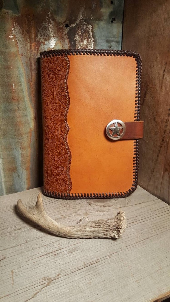 Leather and Water Buffalo Hand Made Leather Portfolio, legal Pad Folder