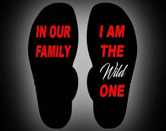 Funny Socks Wild One FREE SHIPPING