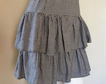 Venus houndstooth tiered cowgirl skirt
