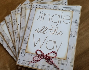 Jingle all the Way 6-pack of Christmas cards