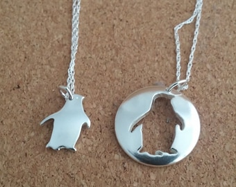 Origami penguin necklace in sterling silver geometric penguin pendant sterling penguin penguin jewelry sea jewelry gift for her penguin penguin gift fish jewelry aloadofball Gallery