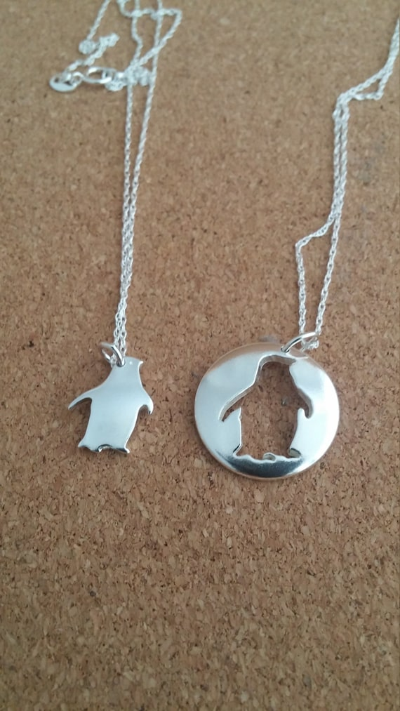 Penguin pendant sterling penguin penguin jewelry sea jewelry like this item mozeypictures Images