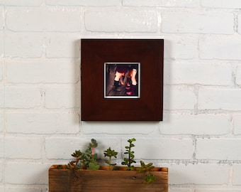 4x4 Square Photo Picture Frame in 2.5 Wide Style with Solid Mahogany Finish - IN STOCK - Same Day Shipping - Solid Hardwood frame 4 x 4