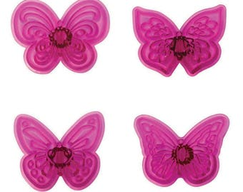 4 Piece Lacy Butterflies Plastic Cutter Set - PME