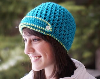 Cross Stitch Hat Pattern - Instant Download Crochet Pattern
