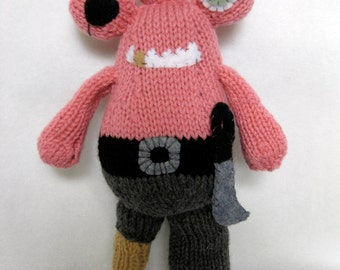 Peg the Pirate Knitting Pattern