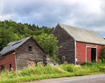New England Photography - Cloverdale Farm Barn Print - Stowe, Vermont