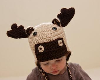 Moose Hat - Crochet Moose Hat