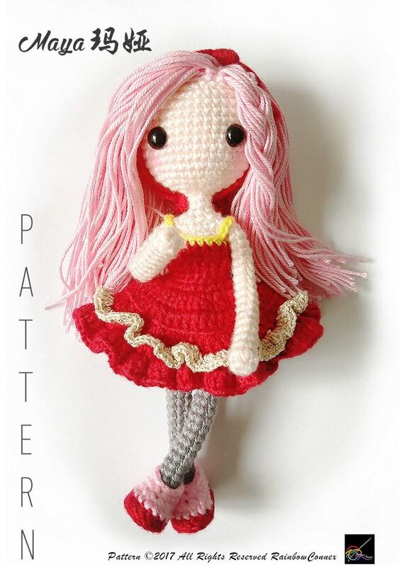 Amigurumi Doll Crochet Pattern Maya From Rainbowconnex On