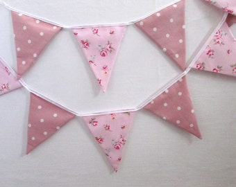 Fabric Bunting, Party, Wedding, Fabric, Personalised ,Home Decor, Handmade, Fabric, Home, Home and Garden, Free Postage