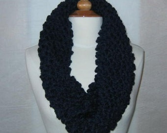 Soft and Plush Navy Blue Cowl Scarf Neck Warmer
