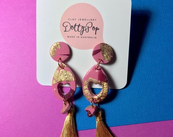 Your Gold Heart, Polymer Clay Earrings.