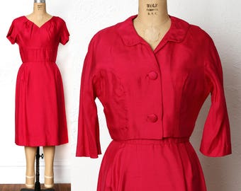 1960s Fuschia Dress  Bright Pink