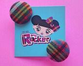 Highland Tartan Button Ea...