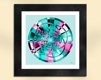 Circle 3 Abstract Art Print