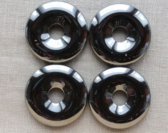 1 non magnetic Hematite Donut pendant